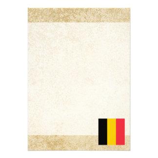 """Bandera de oro de Bélgica Invitación 5"""" X 7"""""""