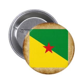 Bandera de oro de la Guayana Francesa Pin Redondo 5 Cm