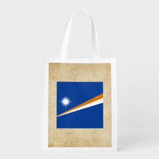 Bandera de oro de Marshall Islands Bolsas Reutilizables