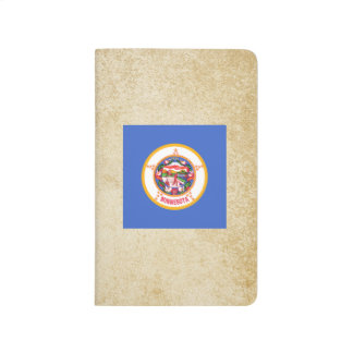 Bandera de oro de Minnesota Cuaderno