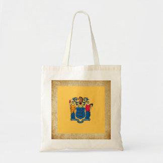 Bandera de oro de New Jersey Bolsa Tela Barata