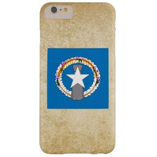 Bandera de oro de Northern Mariana Islands Funda Para iPhone 6 Plus Barely There