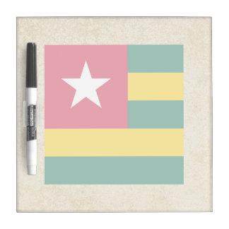 Bandera de oro de Togo Tableros Blancos