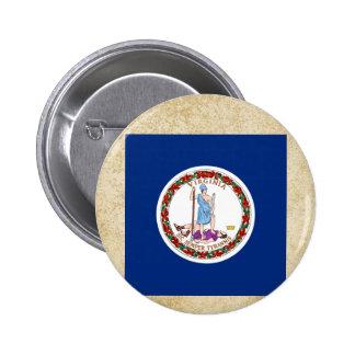 Bandera de oro de Virginia Pin Redondo 5 Cm