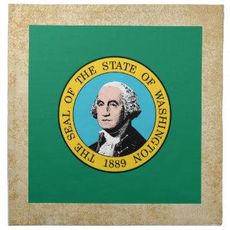 Bandera de oro de Washington Servilleta De Papel