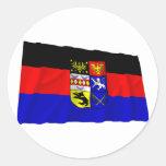 Bandera de Ostfriesland Pegatina Redonda