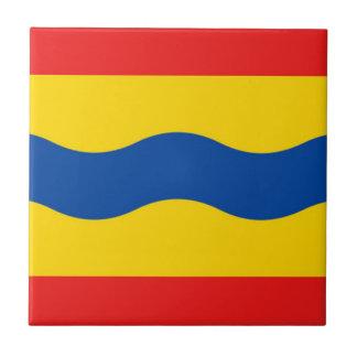 Bandera de Overijssel Azulejo Cuadrado Pequeño