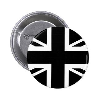 Bandera de país (BRITÁNICA) británica negra de Pin Redondo De 2 Pulgadas