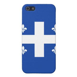 bandera de país de Canadá de la región de Quebec iPhone 5 Carcasa