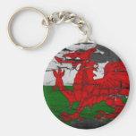 Bandera de País de Gales apenada Llavero