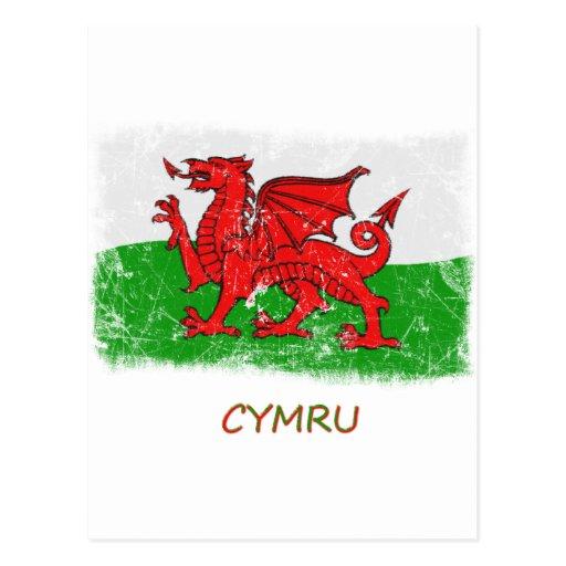 Bandera de País de Gales del Grunge Postal