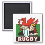 Bandera de País de Gales del intento del jugador d Imán