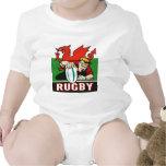 Bandera de País de Gales del intento del jugador Traje De Bebé
