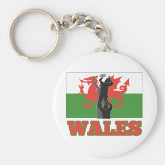 Bandera de País de Gales del tiro del lineout del  Llaveros Personalizados