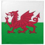 Bandera de País de Gales en la servilleta de MoJo
