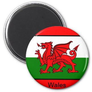 Bandera de País de Gales Imán Redondo 5 Cm