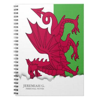Bandera de País de Gales Libretas