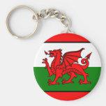 Bandera de País de Gales Llavero Personalizado