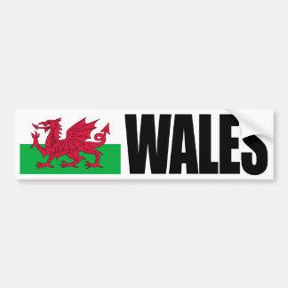Bandera de País de Gales Pegatina Para Auto