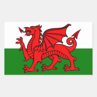 Bandera de País de Gales Pegatina Rectangular