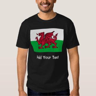 Bandera de País de Gales Remeras