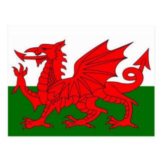 Bandera de País de Gales Tarjetas Postales