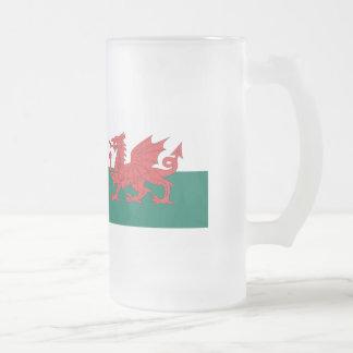 Bandera de País de Gales Taza De Cristal