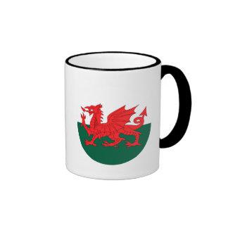 Bandera de País de Gales Taza De Dos Colores