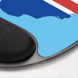 Bandera de país de Islandia Alfombrillas Con Gel