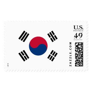 Bandera de país de la Corea del Sur Sello