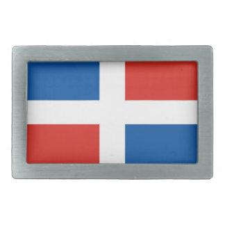 bandera de país de la República Dominicana Hebilla De Cinturón Rectangular
