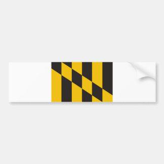 bandera de país de Maryland los E.E.U.U. de la ciu Pegatina Para Auto