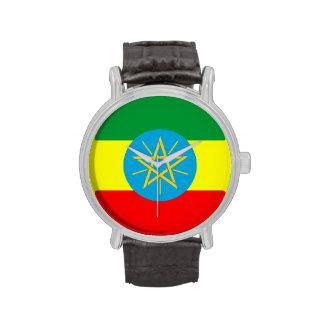 bandera de país Etiopía Reloj