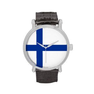 bandera de país Finlandia finlandesa Relojes De Pulsera