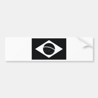 Bandera de país negra del Brasil Pegatina Para Auto