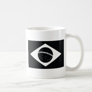 Bandera de país negra del Brasil Taza De Café