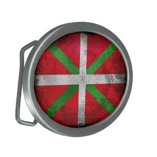 Bandera de país vasca apenada del estilo: hebillas de cinturon ovales
