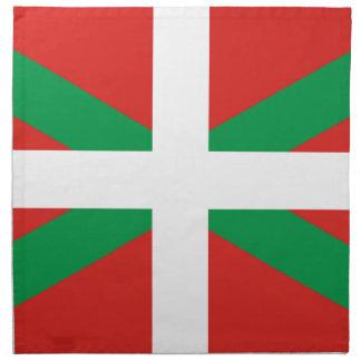 Bandera de Pais Vasco España Servilleta