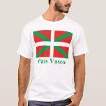 Bandera de País Vasco (Euskadi) con nombre Playera