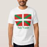 Bandera de País Vasco (Euskadi) con nombre Remera