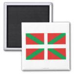 Bandera de País Vasco (Euskadi) Imán Cuadrado
