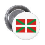 Bandera de País Vasco (Euskadi) Pin Redondo De 2 Pulgadas