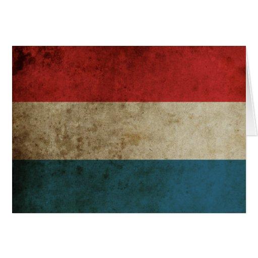 Bandera de Países Bajos del vintage Tarjeta De Felicitación