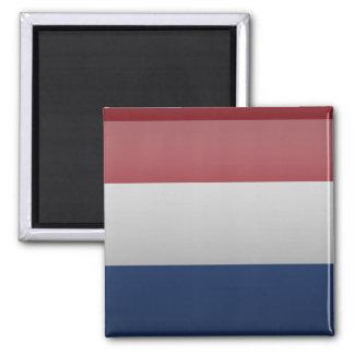 Bandera de Países Bajos Imán Cuadrado