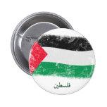 Bandera de Palestina del Grunge Pins