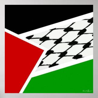 Bandera de Palestina Keffiyah Posters