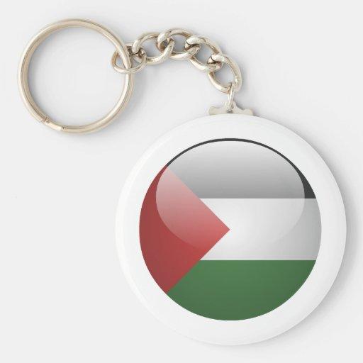 Bandera de Palestina Llavero Redondo Tipo Pin