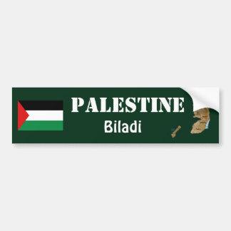Bandera de Palestina + Pegatina para el parachoque Pegatina De Parachoque
