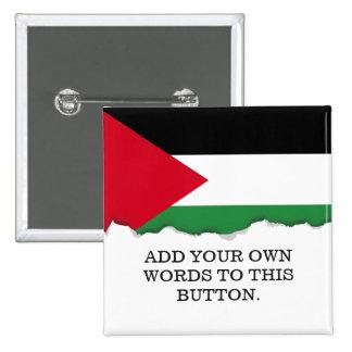 Bandera de Palestina Pin Cuadrado