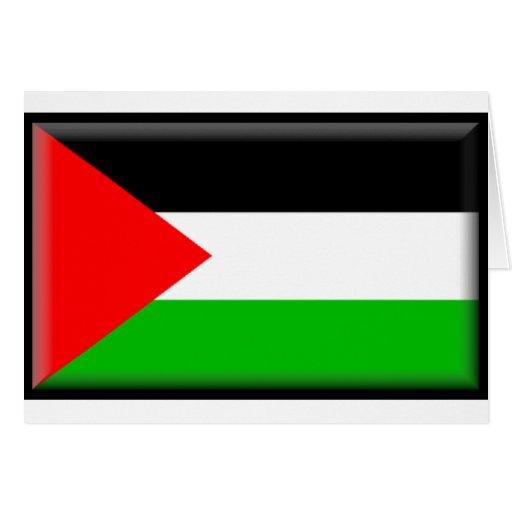 Bandera de Palestina Tarjeta De Felicitación